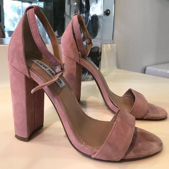 2a3d61ad4995 Size 6 Light Pink Suede Steve Madden Block Heels. M 5a4c2958739d48b73a00287b